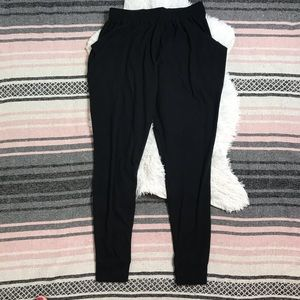 Free People - Joggers Sweats Pants Fleece Black M